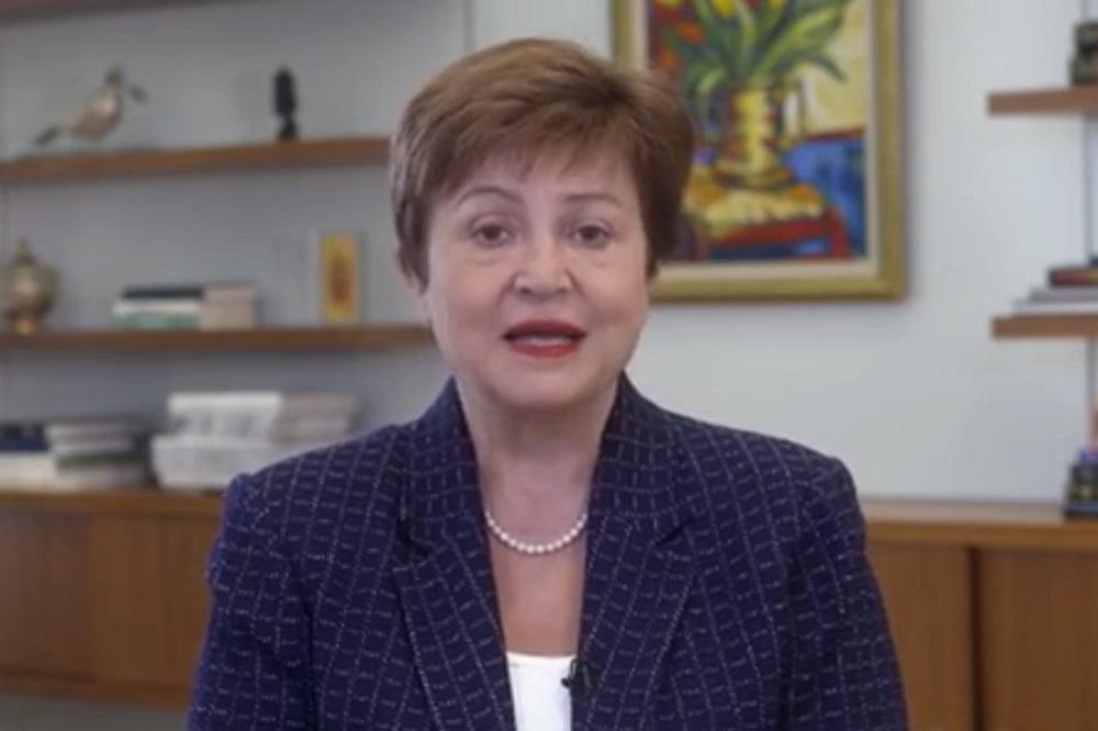 國際貨幣基金組織總裁格奧爾基耶娃(Kristalina Georgieva)透過影片亮相外灘大會,並在主論壇上發表主題演講。