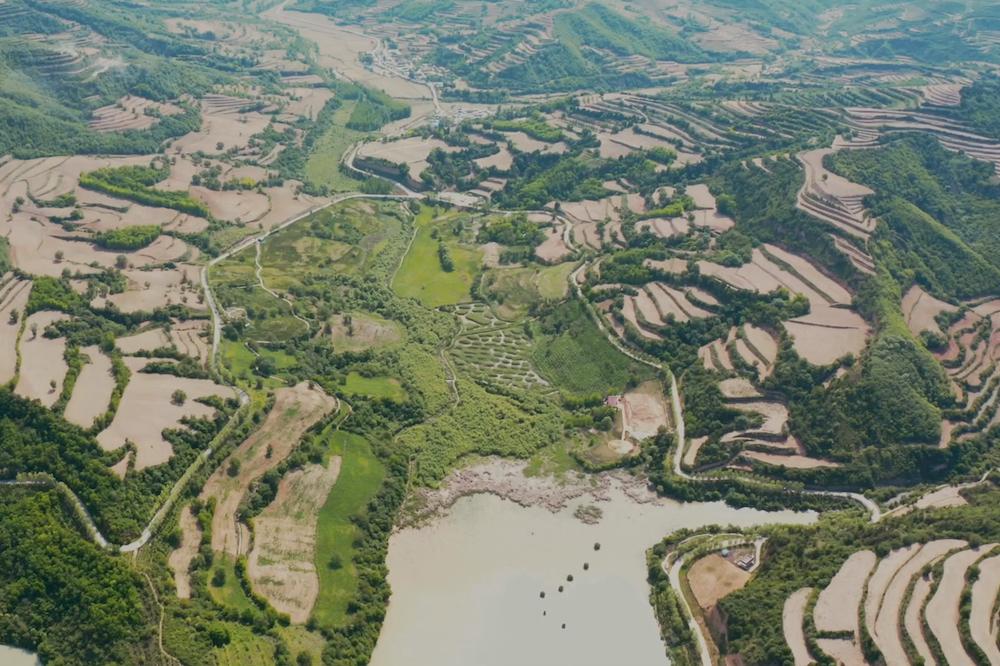 陝西省銅川市宜君縣有美麗的旱作梯田,自然條件孕育出很多優質的農產品