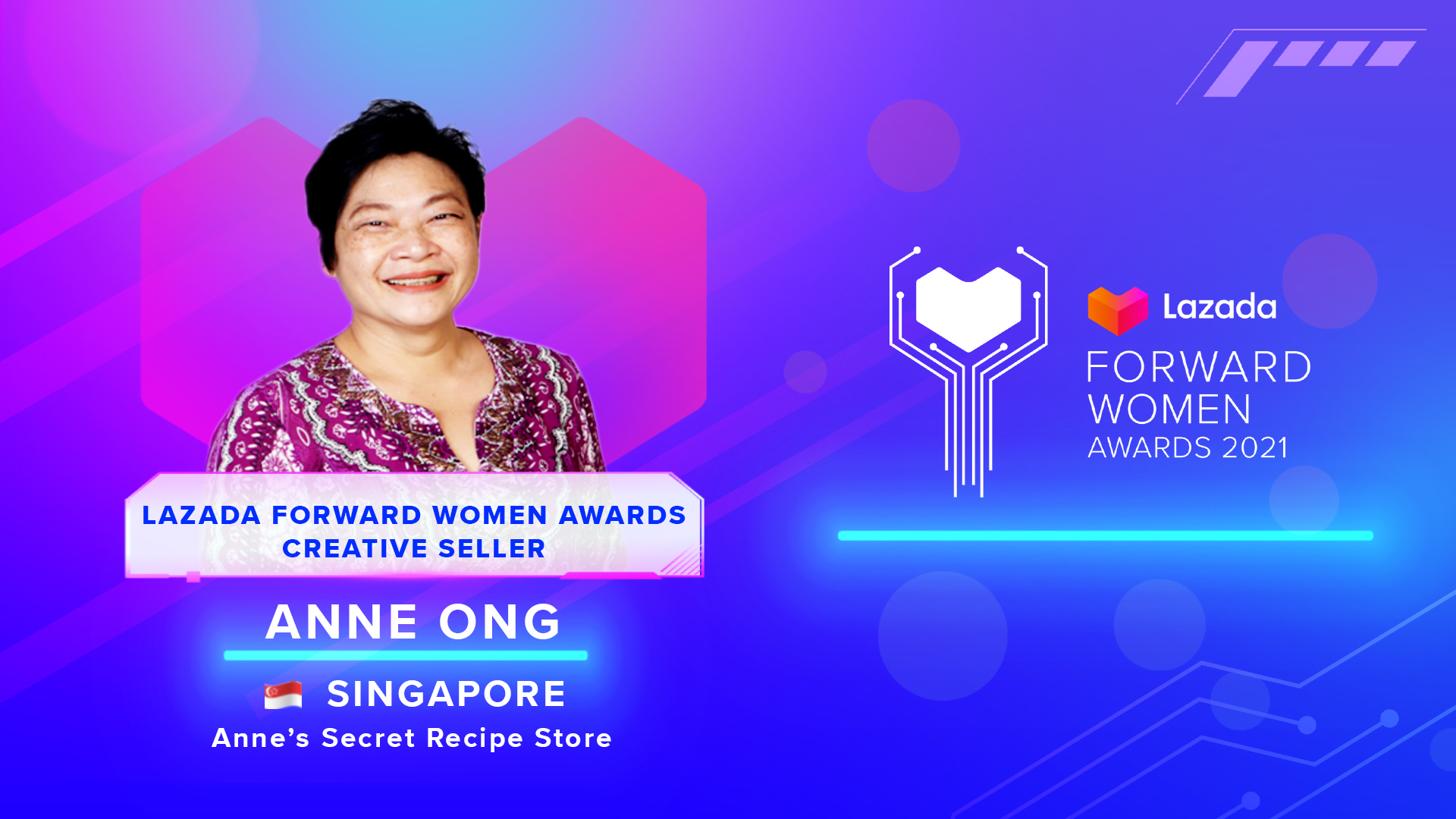 Anne Ong- Lazada Forward Women Awards