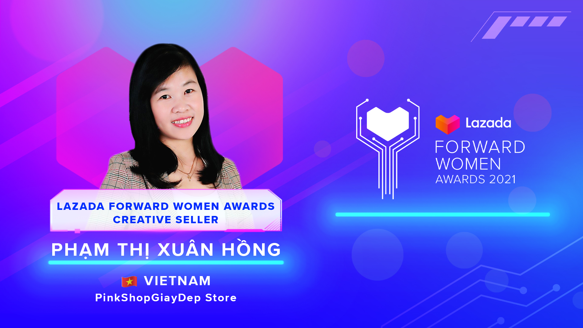 Pham Thi -Lazada Forward Women Awards