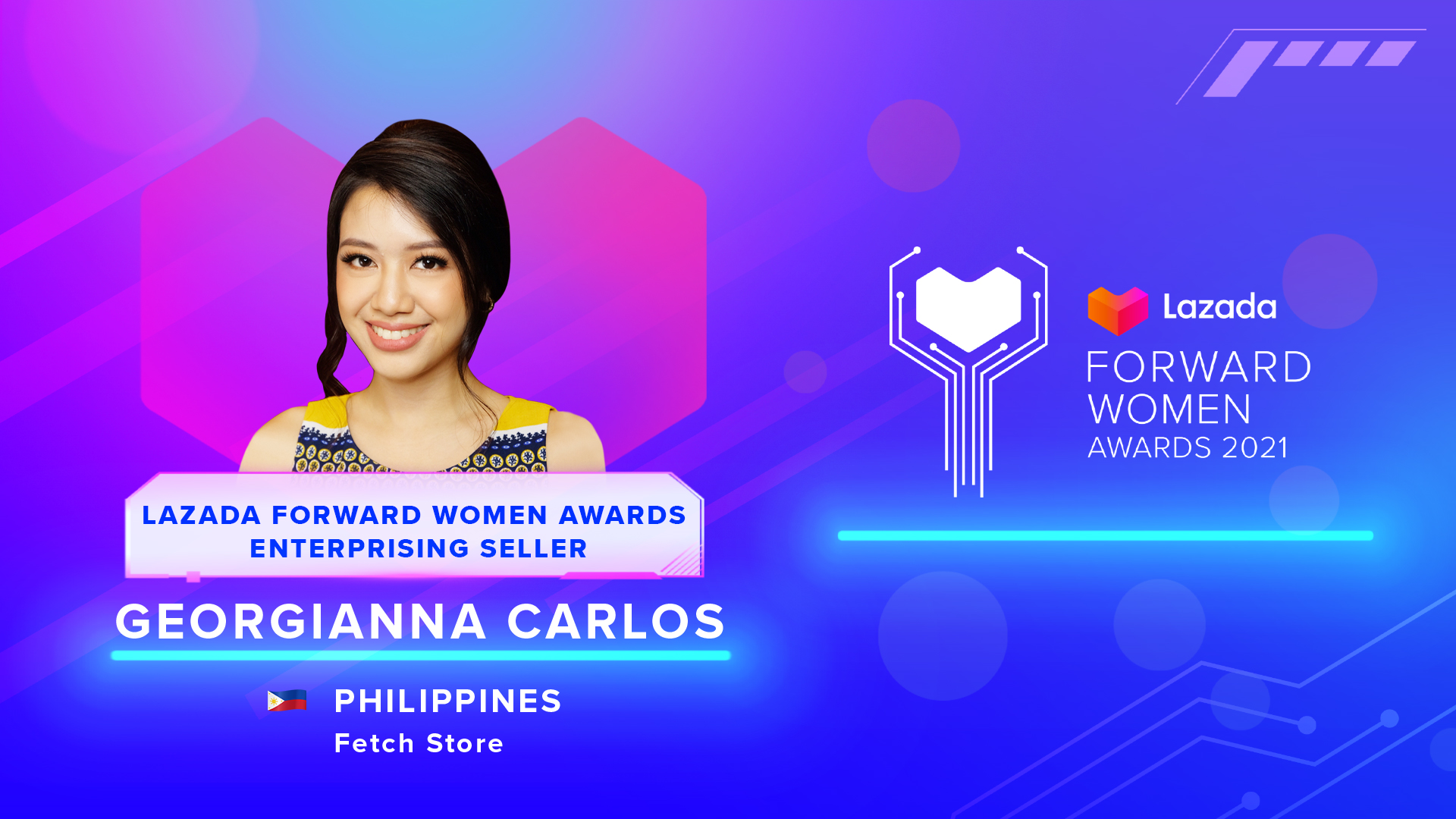 Georgianna Carlos -Lazada Forward Women Awards