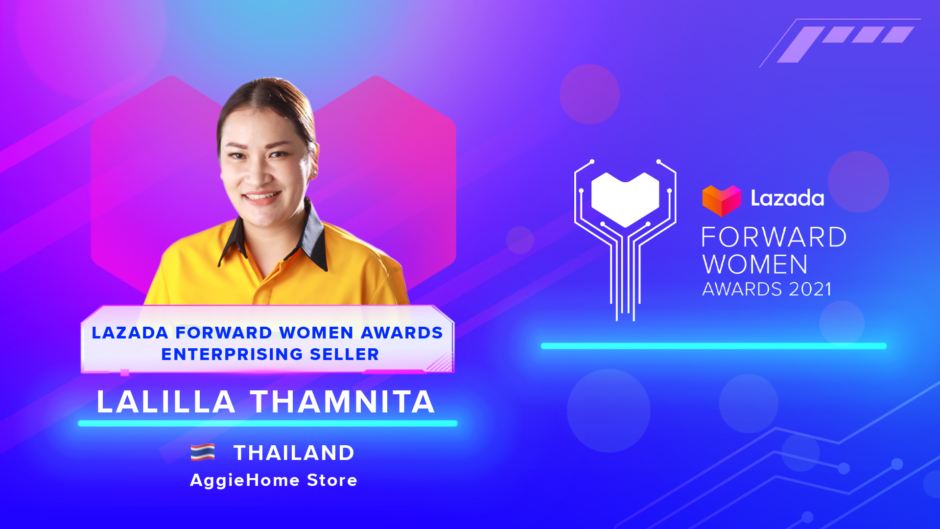 Lalilla Thamnita -Lazada Forward Women Awards