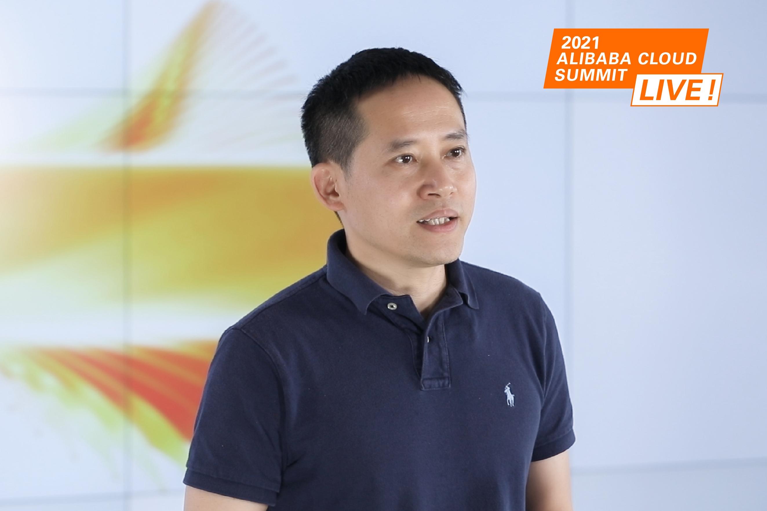 Jeff Zhang, President of Alibaba Cloud Intelligence dalam Virtual Summit yang diadakan pada 8 Juni 2021.